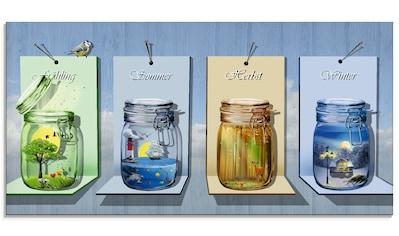 Artland Glasbild »Jahreszeiten in Gläsern«, Vier Jahreszeiten, (1 St.) kaufen