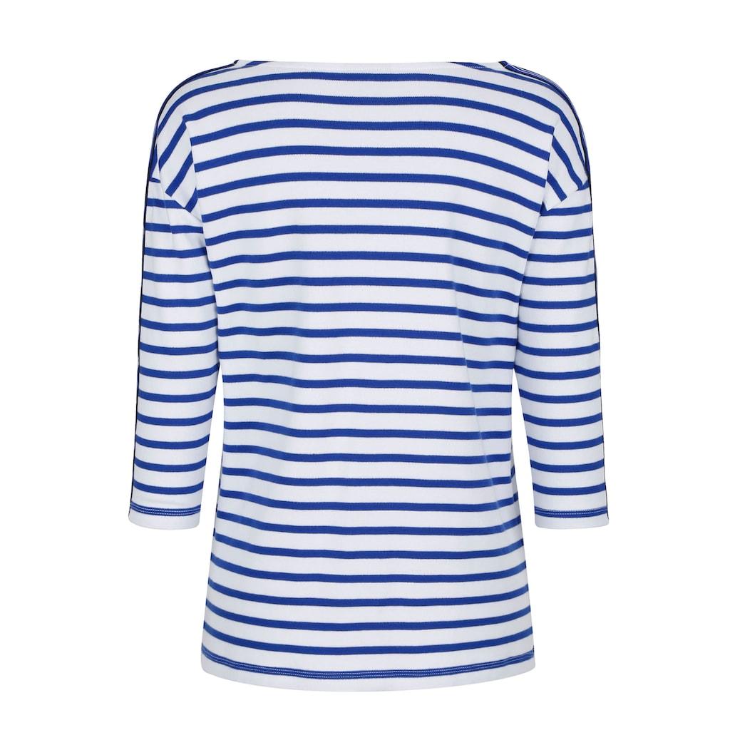 Dress In 3/4-Arm-Shirt, mit Streifen