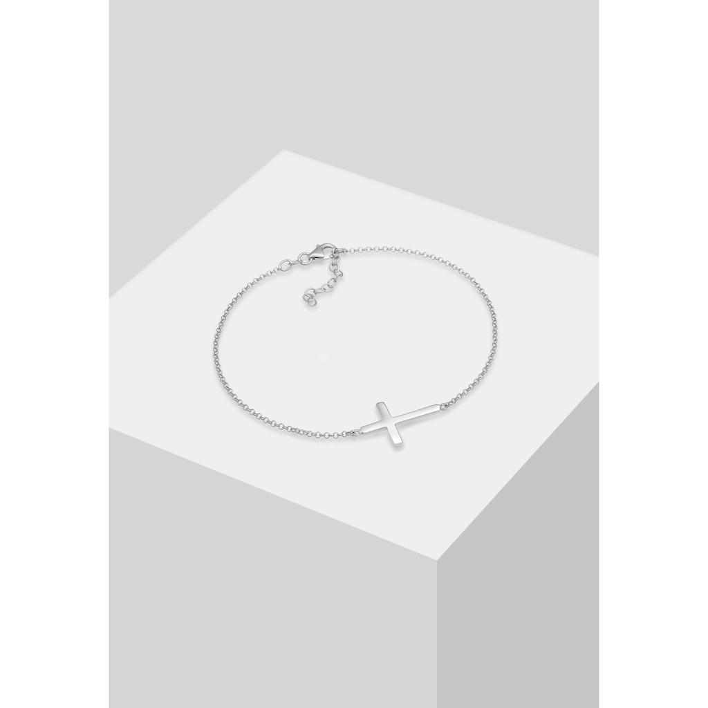 Elli Fußkette »Kreuz Religion Glaube Filigran Trend 925 Silber«