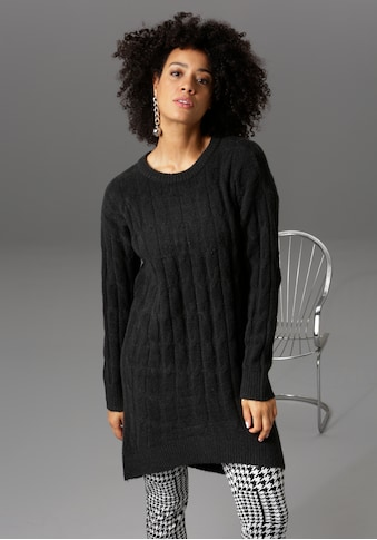 Aniston CASUAL Longpullover, mit trendigem Zopfmuster - NEUE KOLLEKTION kaufen
