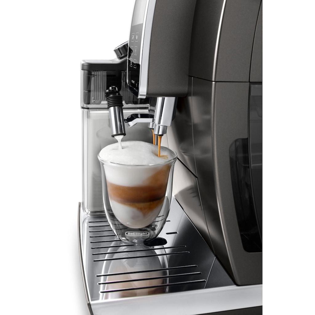 De'Longhi Kaffeevollautomat Dinamica Plus ECAM 370.95.T, 1,8l Tank, Kegelmahlwerk