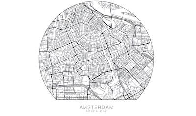 Wall-Art Wandtattoo »Stadtplan Amsterdam Tapete« kaufen