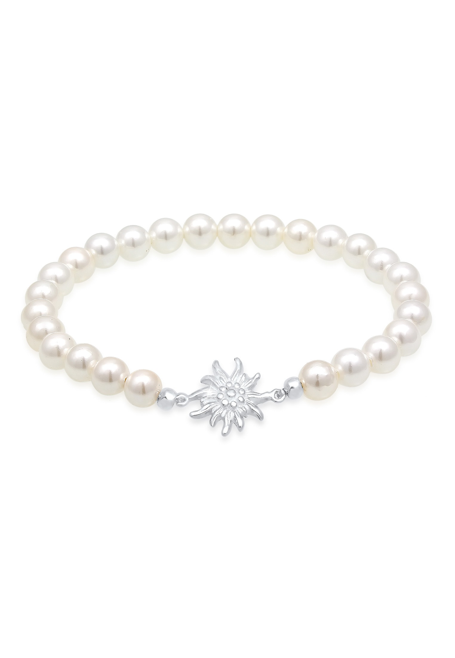 Elli Perlenarmband Edelweiß Perlen Oktoberfest Trachten 925 Silber | Schmuck > Armbänder > Perlenarmbänder | Elli