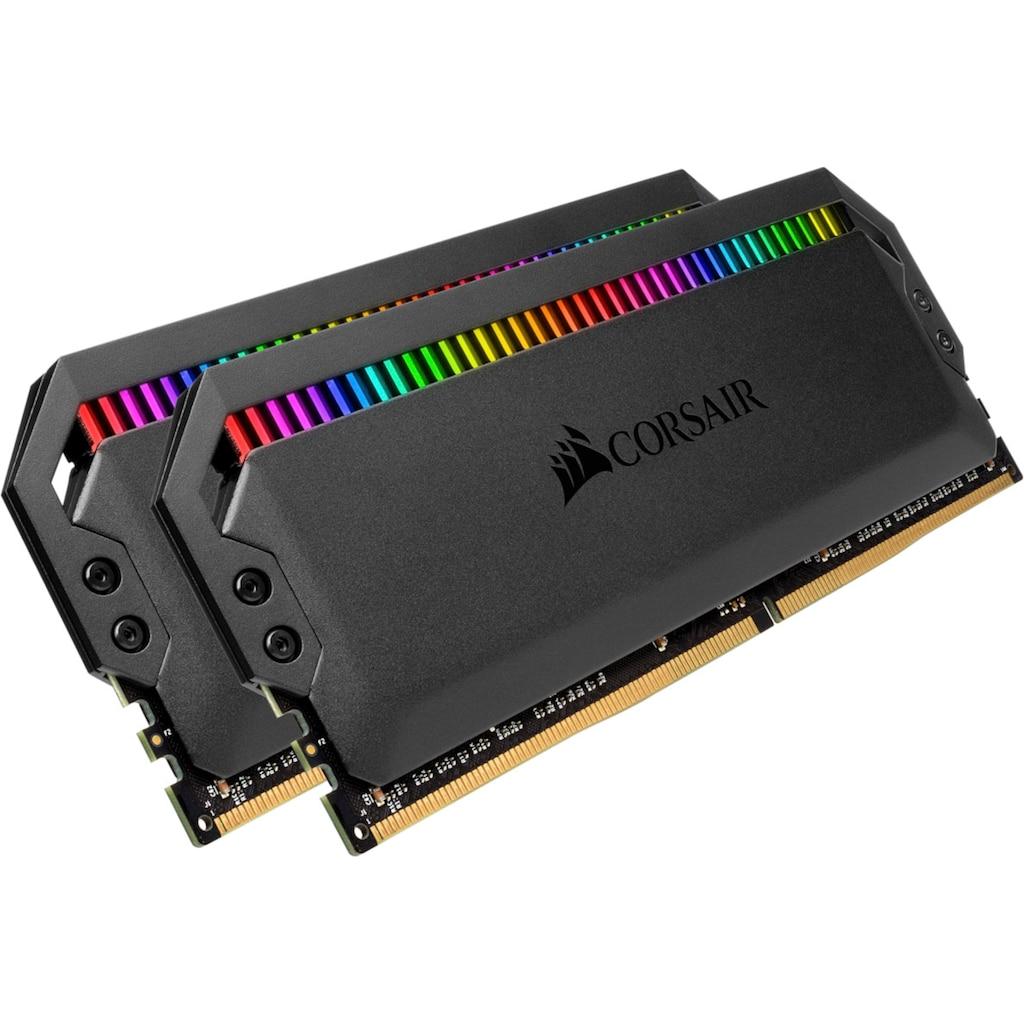 Corsair PC-Arbeitsspeicher »DOMINATOR RGB 16 GB (2 x 8 GB) DDR4 DRAM 3.600 MHz C18«