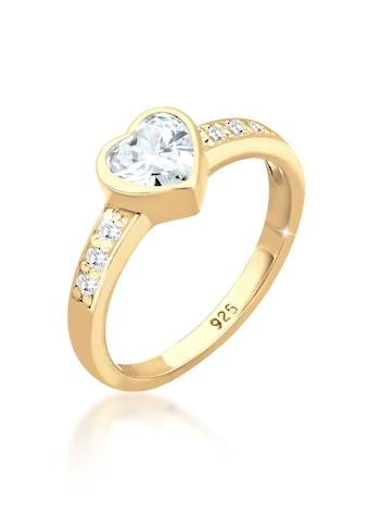 Elli Fingerring »Herz Symbol Verlobung Zirkonia 925 Sterling Silber« kaufen