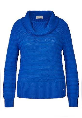VIA APPIA Kuscheliger Pullover mit Strukturmuster Plus Size kaufen