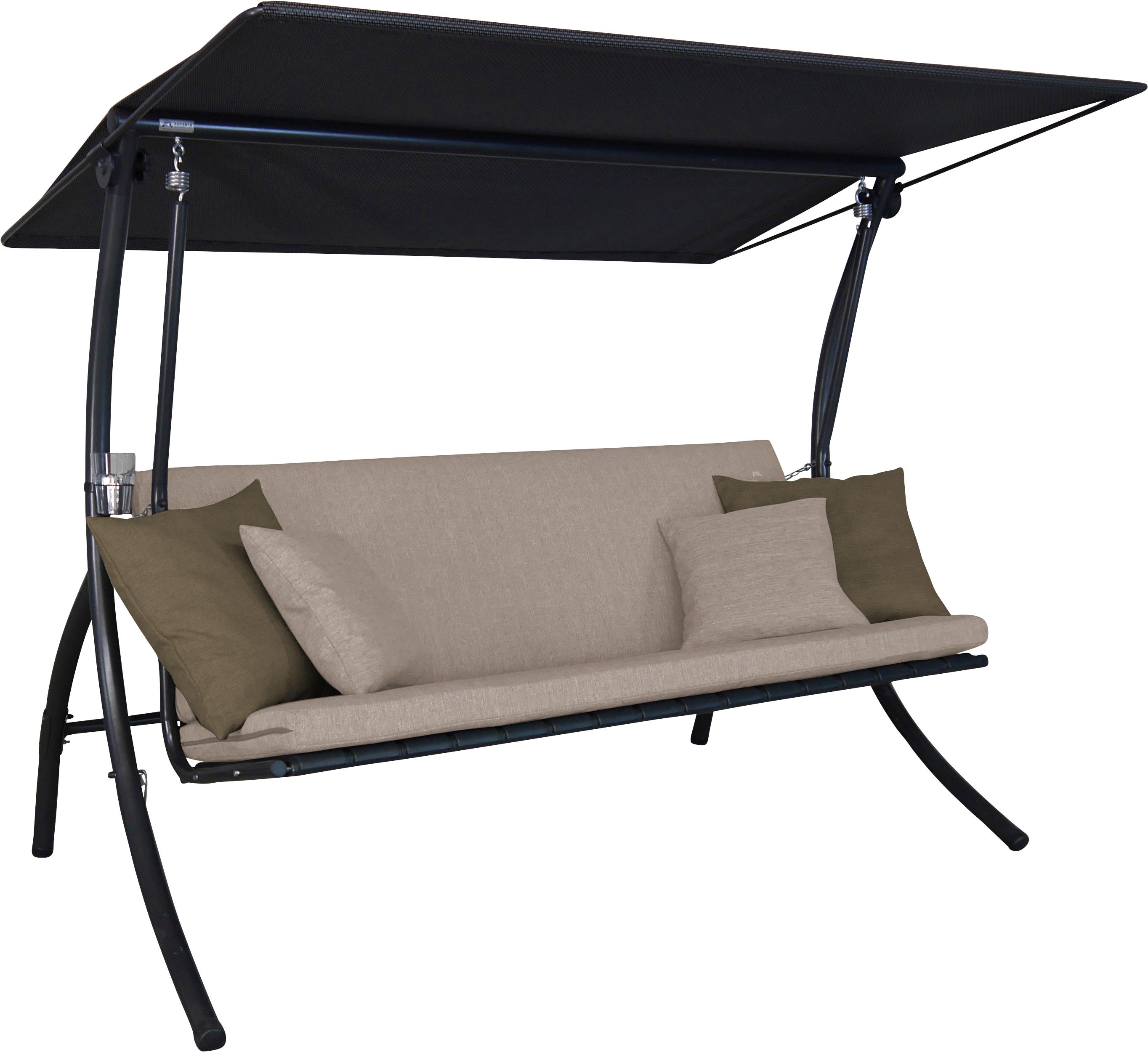 Angerer Freizeitmöbel Hollywoodschaukel Motion Smart sand braun Hollywoodschaukeln Gartenmöbel Gartendeko
