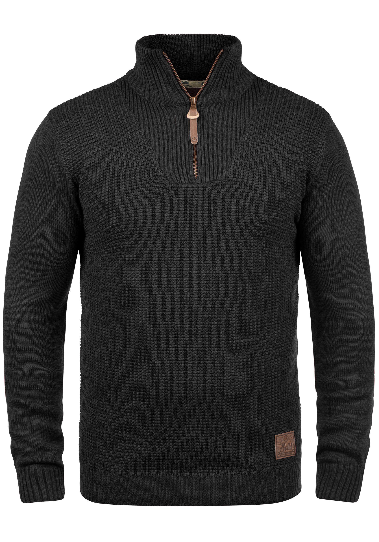Solid Troyer Tommy | Bekleidung > Pullover > Troyer | Schwarz | Leder | Solid
