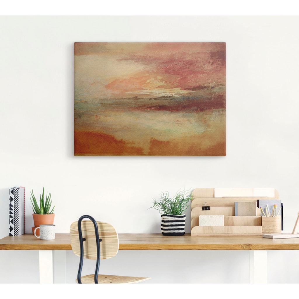 Artland Wandbild »Sonnenuntergang bei Margate 1840«, Sonnenaufgang & -untergang, (1 St.), in vielen Größen & Produktarten -Leinwandbild, Poster, Wandaufkleber / Wandtattoo auch für Badezimmer geeignet