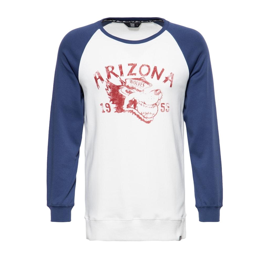 KingKerosin Longsleeve »Arizona«, mit kontrastierenden Raglanärmeln