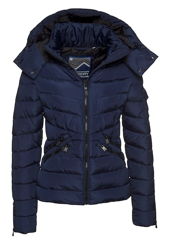 Superdry Steppjacke »LUXE QUILT PADDED JACKET«, mit abnehmbarer Kapuze kaufen