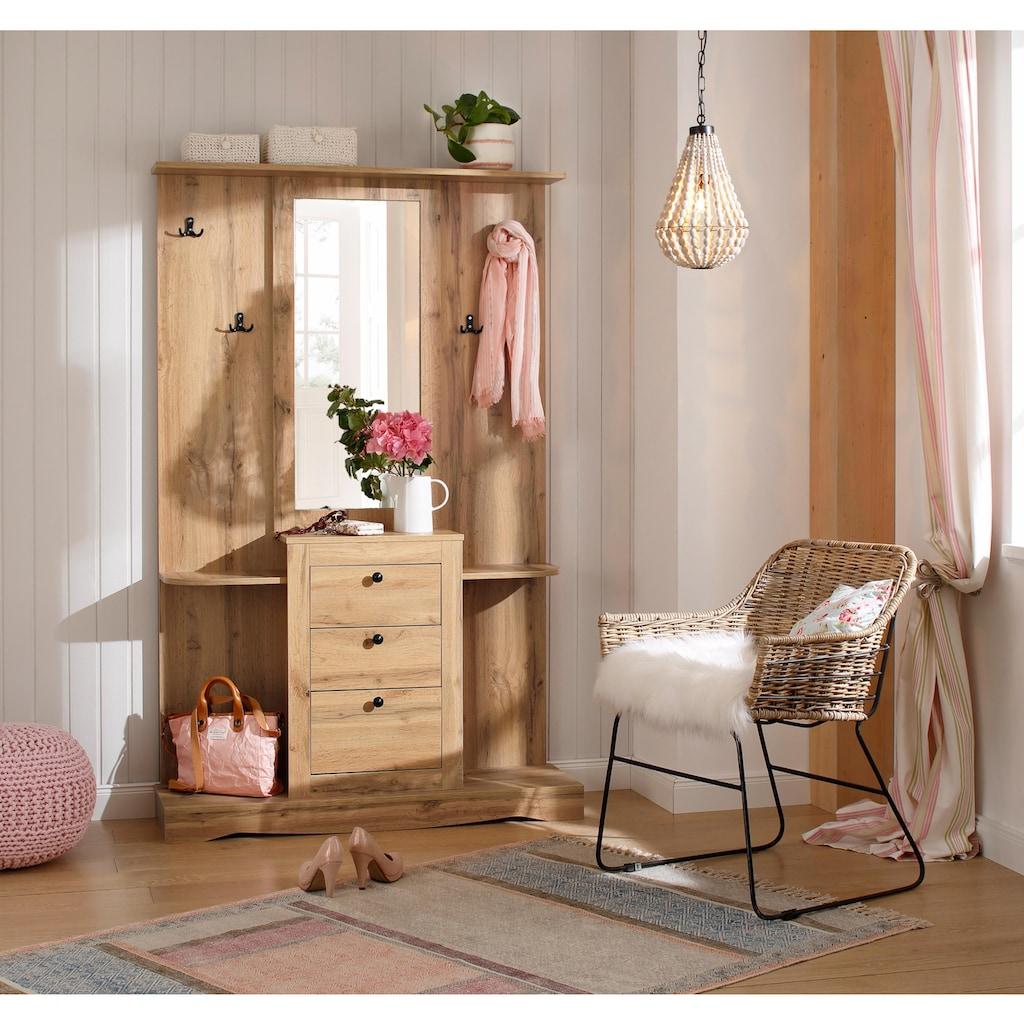 Home affaire Kompaktgarderobe »Norma«, mit Spiegel und vielen Ablageflächen