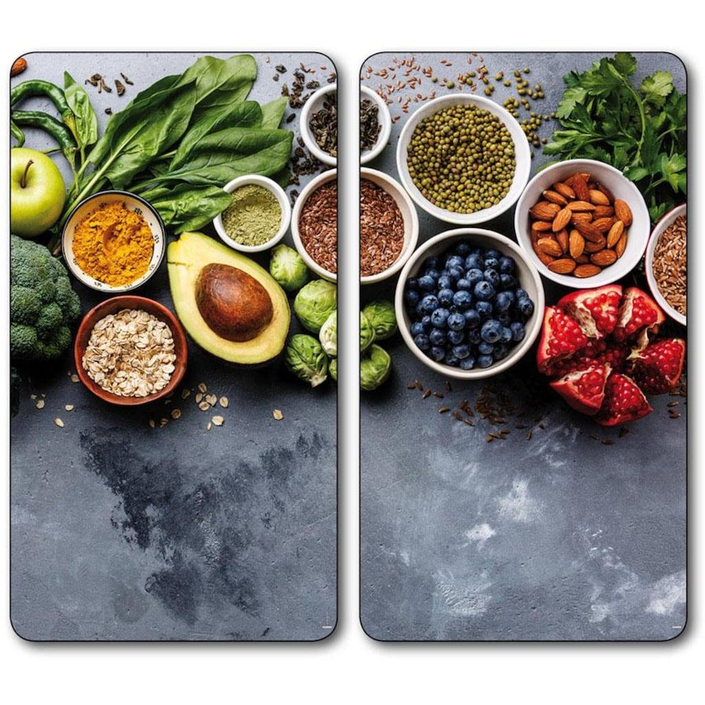 KESPER for kitchen & home Schneide- und Abdeckplatte »Healthy Kitchen«