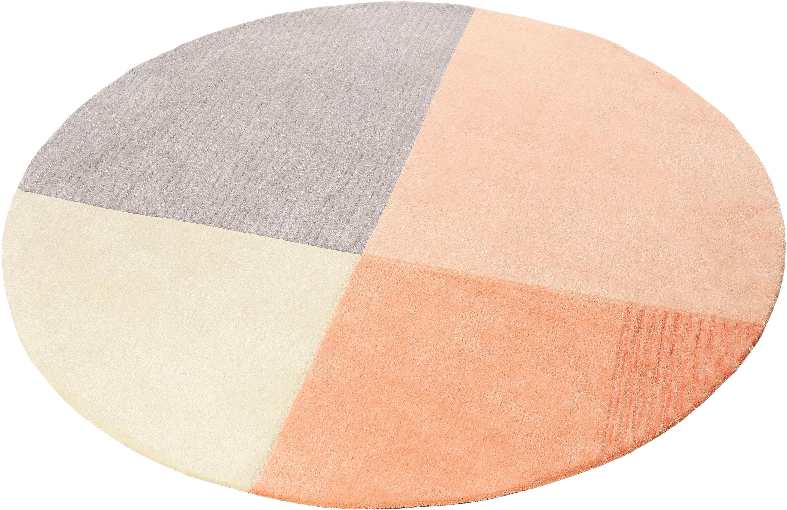 Teppich Harlem Esprit rund Höhe 9 mm maschinell getuftet
