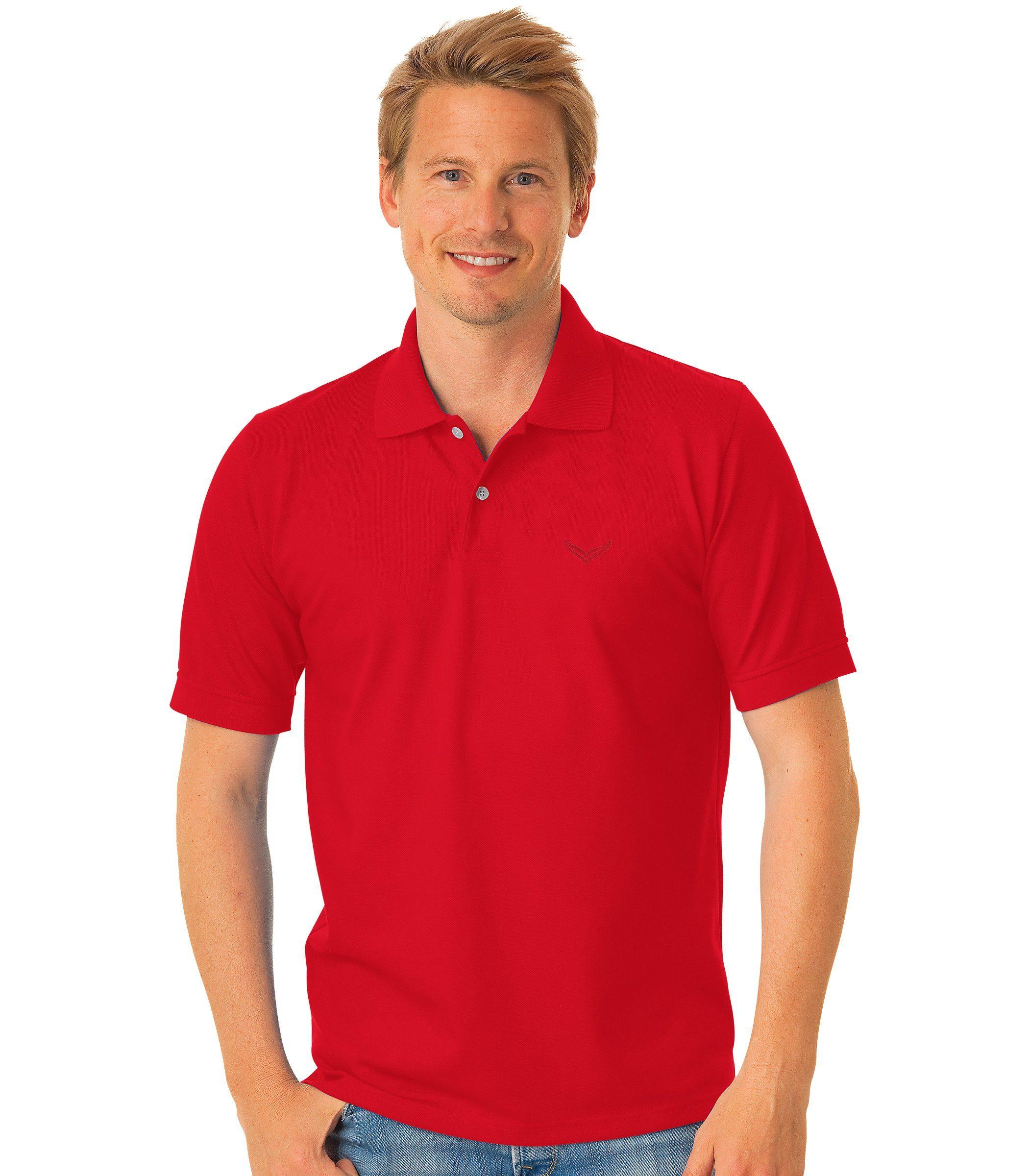 TRIGEMA Polo-Shirt DELUXE Piqué | Bekleidung > Polo Shirts > Kurzarm | Rot | Baumwolle | TRIGEMA