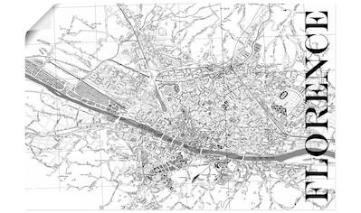Artland Wandbild »Florenz Karte Straßen Karte«, Italien, (1 St.), in vielen Größen &... kaufen
