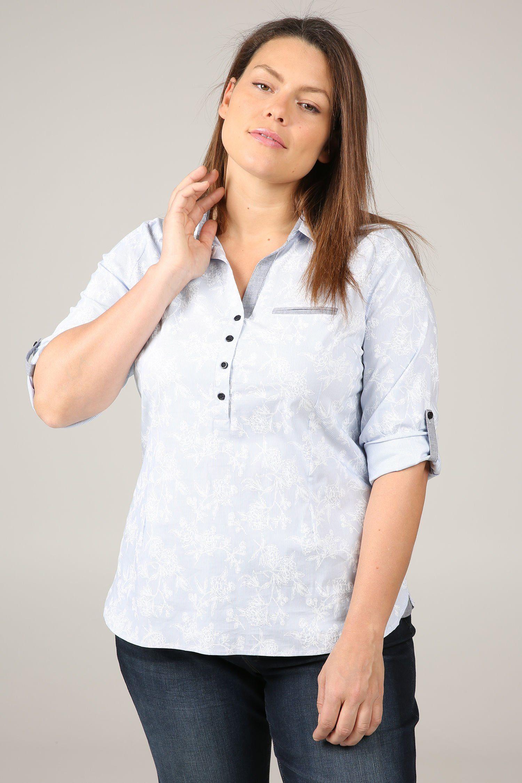 Paprika Druckbluse Bluse mit Streifen- und Blumen-Print   Bekleidung > Blusen > Druckblusen   Paprika