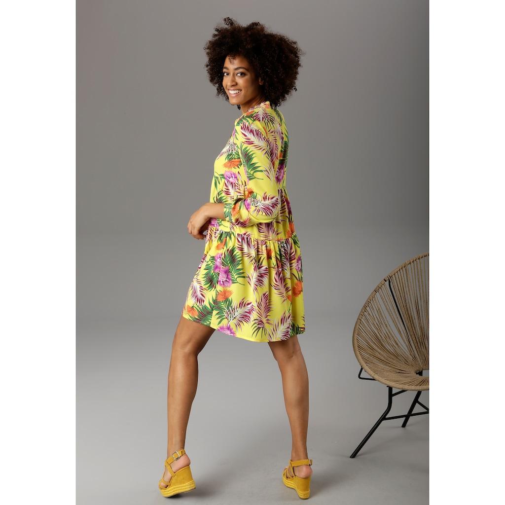 Aniston CASUAL Sommerkleid, mit Dschungel-Print -