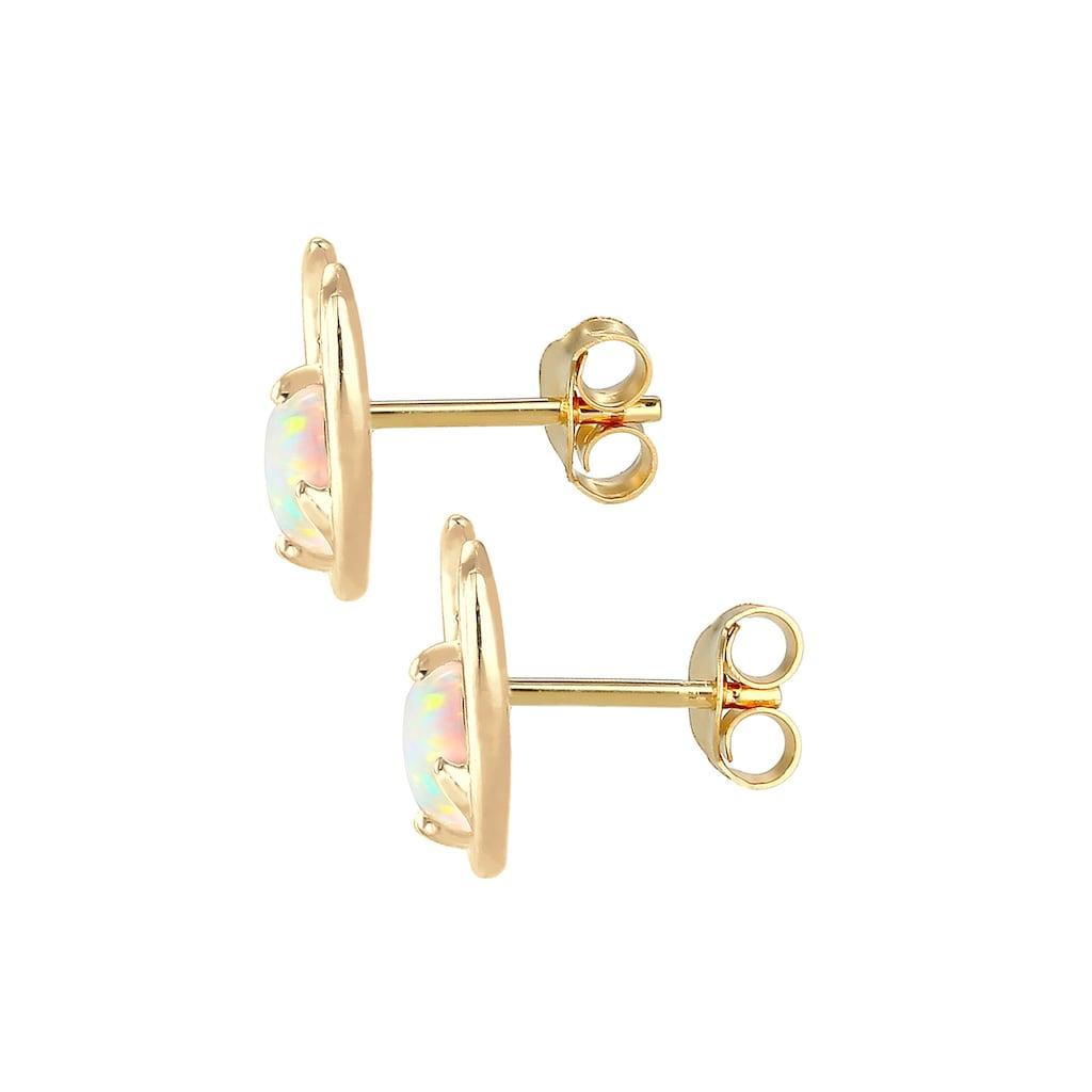 Elli Paar Ohrstecker »Synthetischer Opal Rentier Geweih 925 Silber«