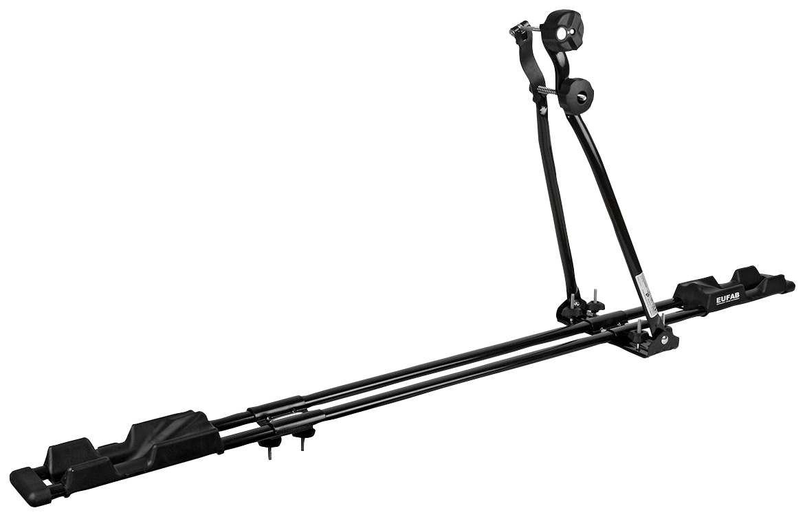 EUFAB Dachfahrradträger SUPER BIKE, Stahl schwarz Fahrradträger Autozubehör Reifen