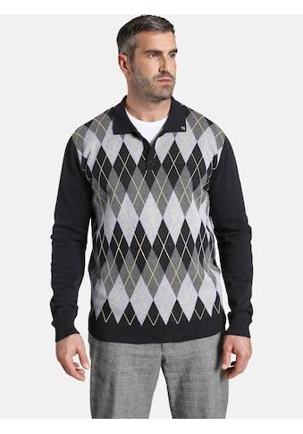 Charles Colby Langarm-Poloshirt »EARL JERRY«, mit Rautenmuster im Vorderteil kaufen