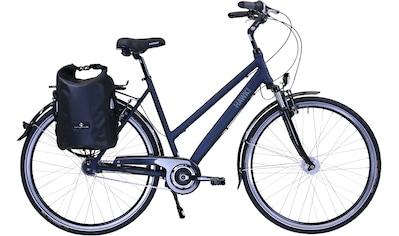 HAWK Bikes Trekkingrad »HAWK Citytrek Lady Deluxe Plus Ocean Blue«, 7 Gang Shimano Nexus Schaltwerk kaufen