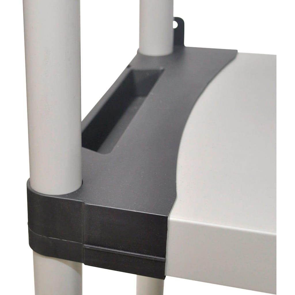 Kreher Schwerlastregal »mit vier geschlossenen Böden und hoher Tragkraft«, B/T/H: 80x40x168 cm