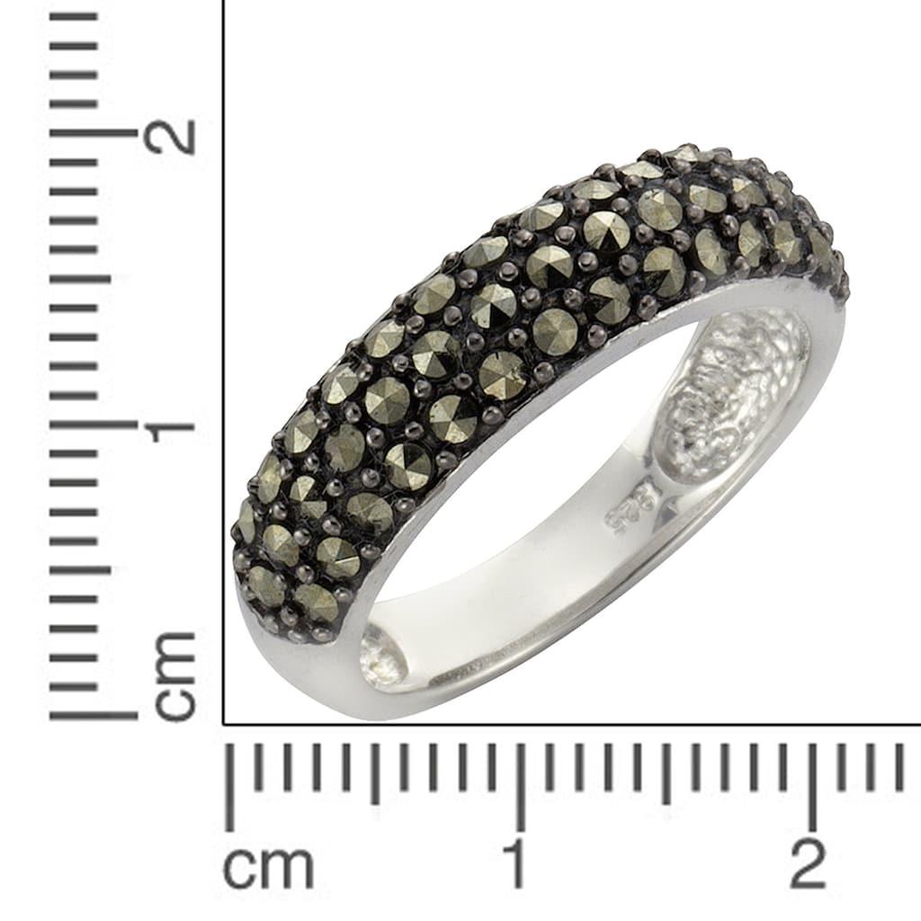 Zeeme Fingerring »925/- Sterling Silber Markasit«, Ring