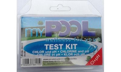MYPOOL Wasserpflege »Chlor -  und pH - Testgerät«, inkl. Poolpflege kaufen
