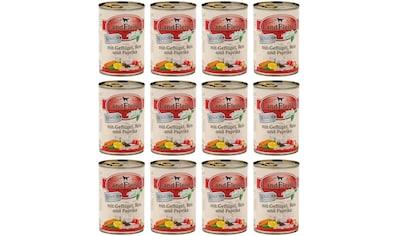 LANDFLEISCH Nassfutter »Senior Huhn und Reis«, (12), 12 Dosen á 400 g kaufen