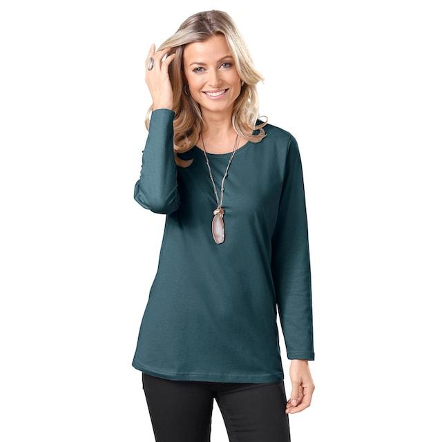 Classic Basics Longshirt aus reiner Baumwolle