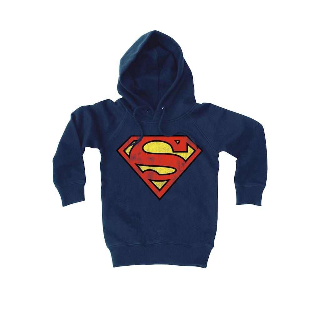 LOGOSHIRT Kapuzensweatshirt mit tollem Superman-Logo