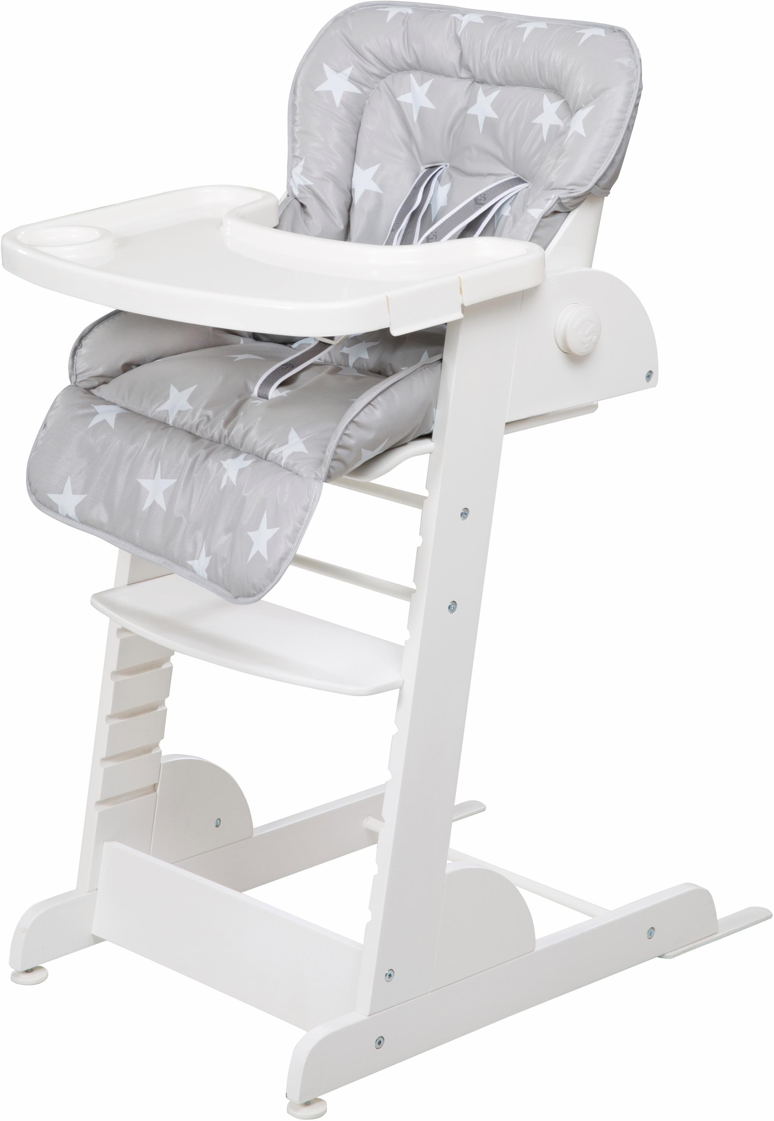 roba Hochstuhl Treppenhochstuhl, Chill Up, weiß Baby Treppenhochstühle Hochstühle Babymöbel Stühle