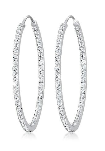 Elli Paar Creolen »Creolen Kristalle 925 Silber« kaufen