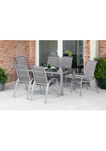 MERXX Gartenmöbelset »Amalfi di lusso«, (5 tlg.), 4 Stapelsessel, Hochlehner, Gartentisch kaufen