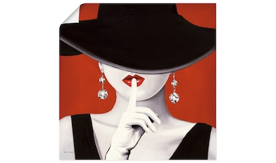 Artland Wandbild »Hut ab I«, Frau, (1 St.), in vielen Größen & Produktarten... kaufen
