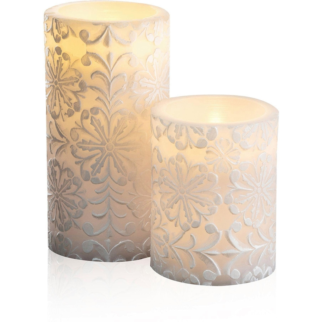 Pauleen LED-Kerze »Wachskerze Little Lilac Candle 2er Set«