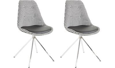 Esszimmerstuhl »Pepita«, Sitzschale mit Webstoff bezogen, Sitzkissen mit Bezug aus... kaufen