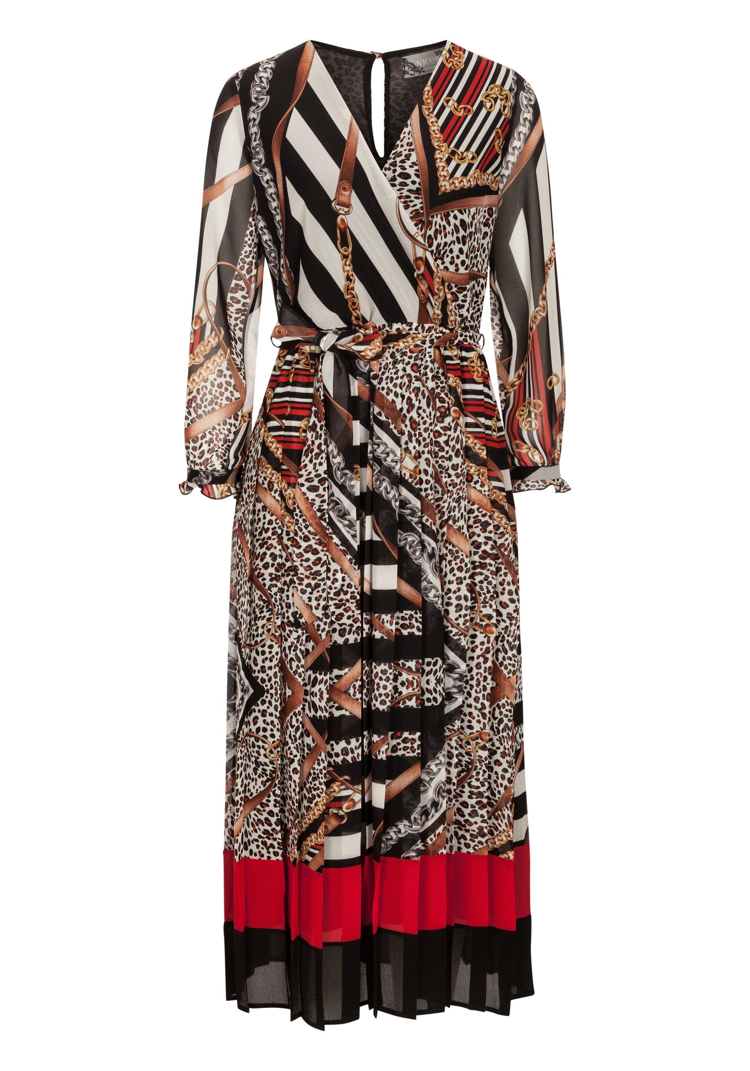 Nicowa Gemustertes Kleid NIGEA in Wickeloptik