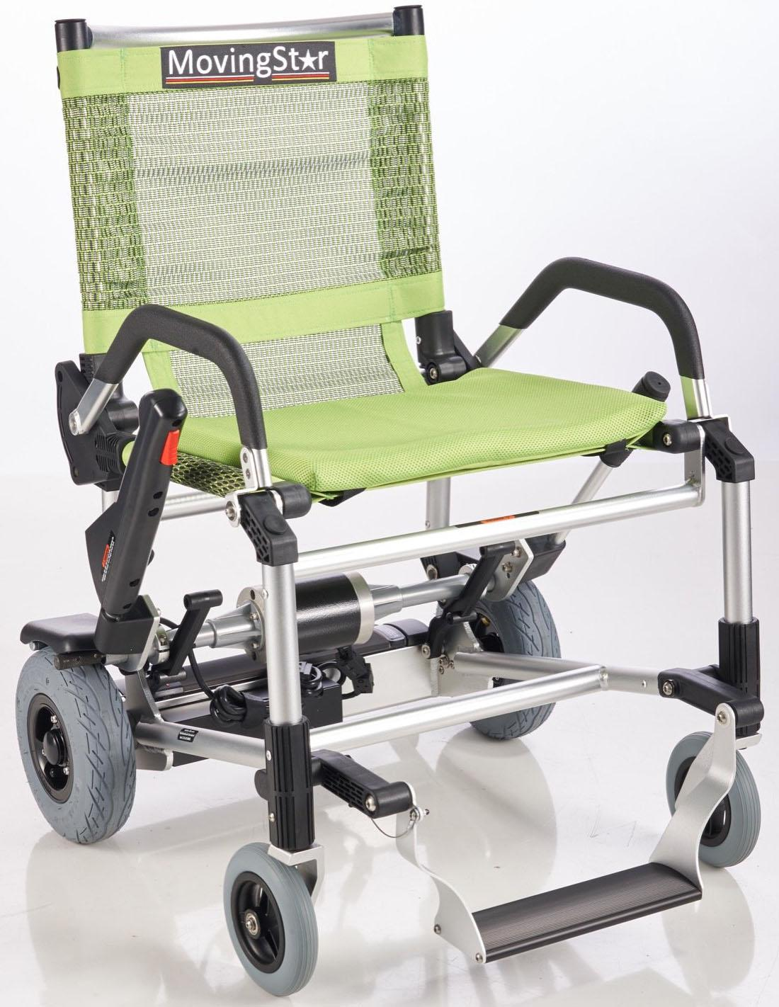 MovingStar Elektrorollstuhl 100, 6 km/h grün Elektromobile Elektroroller Motorroller Mofas Elektrorollstühle
