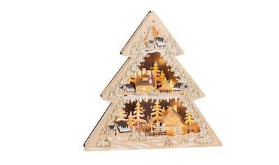 HGD Holz - Glas - Design Lichterspitze Winterdorf mit LED - Beleuchtung kaufen