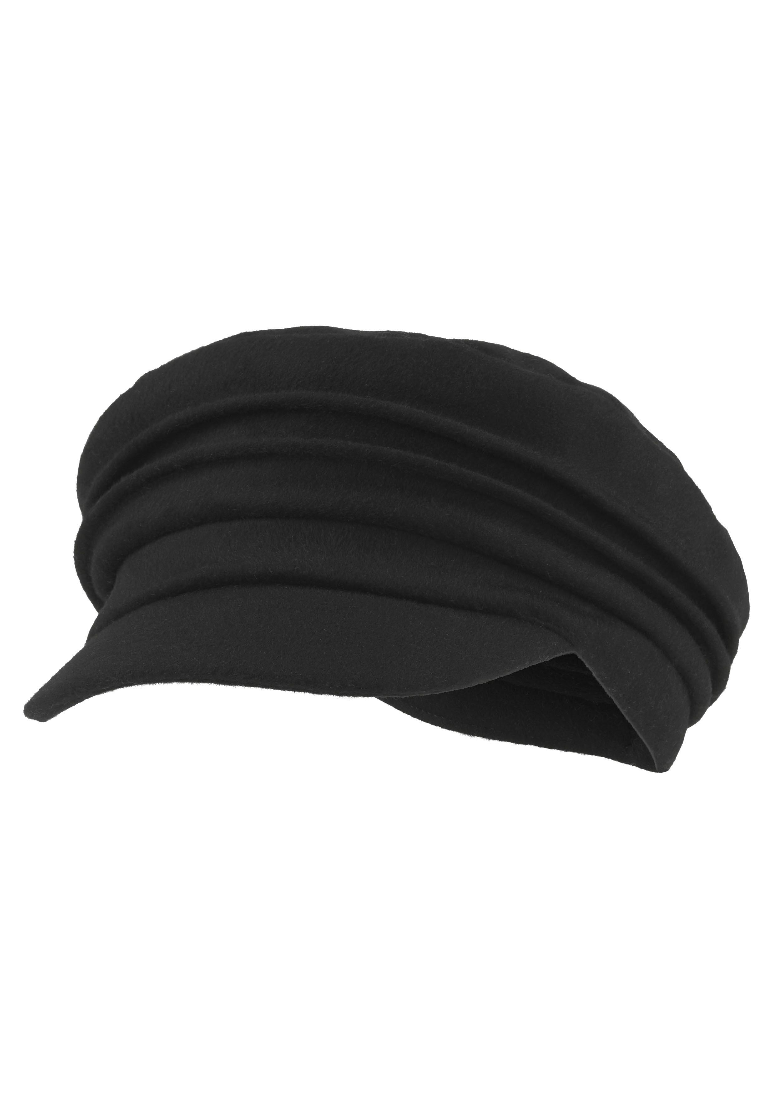 Seeberger Schirmmütze, Ballonmütze, Elbsegler schwarz Damen Schirmmütze
