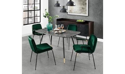 andas Esstisch »Stege«, in Marmoroptik, rechteckige Tischplatte, Design by Morten... kaufen