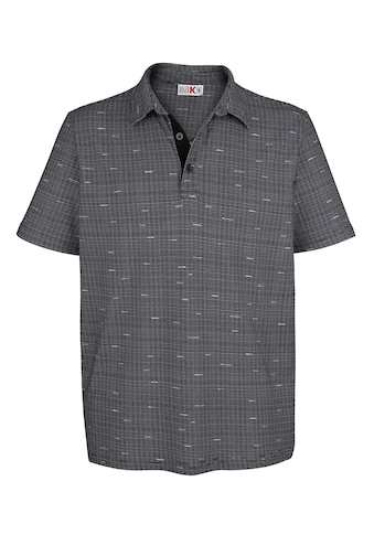 Roger Kent Poloshirt mit Druckmuster rundum kaufen