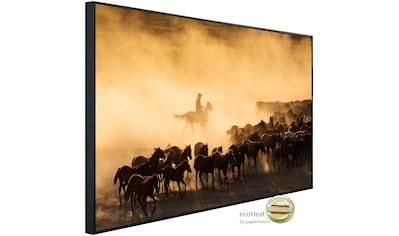 Papermoon Infrarotheizung »Cowboy mit Herde«, sehr angenehme Strahlungswärme kaufen