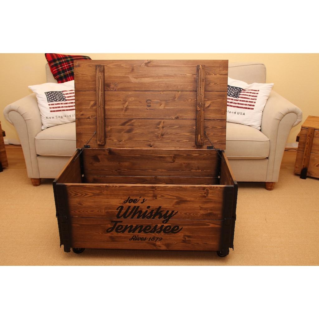 Uncle Joe´s Couchtisch »Whisky«, im Truhen-Design