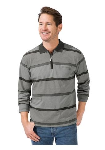 Catamaran Langarm - Poloshirt im hochwertig garngefärbtem Streifenmuster kaufen