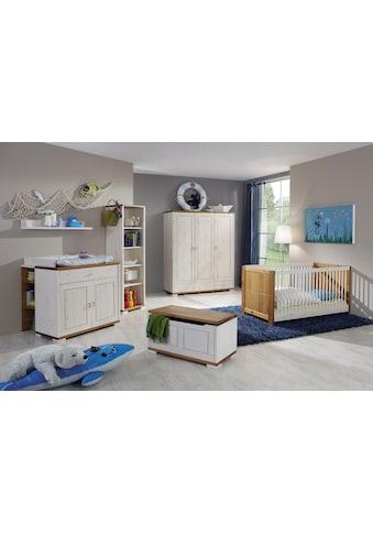Fantasykids Babyzimmer - Komplettset (Set, 7 - tlg Bett + Wickelkommode + 1x Unterbauregal + 3 - trg. Schrank + Strandregal + Deckeltruhe + Wandboard) kaufen