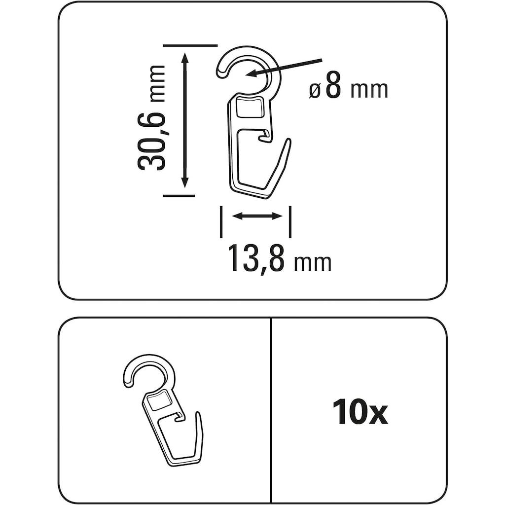 GARDINIA Faltenlegehaken »Faltenlegehaken Kunststoff«, Serie Vitragestangen/Cafehausstangen