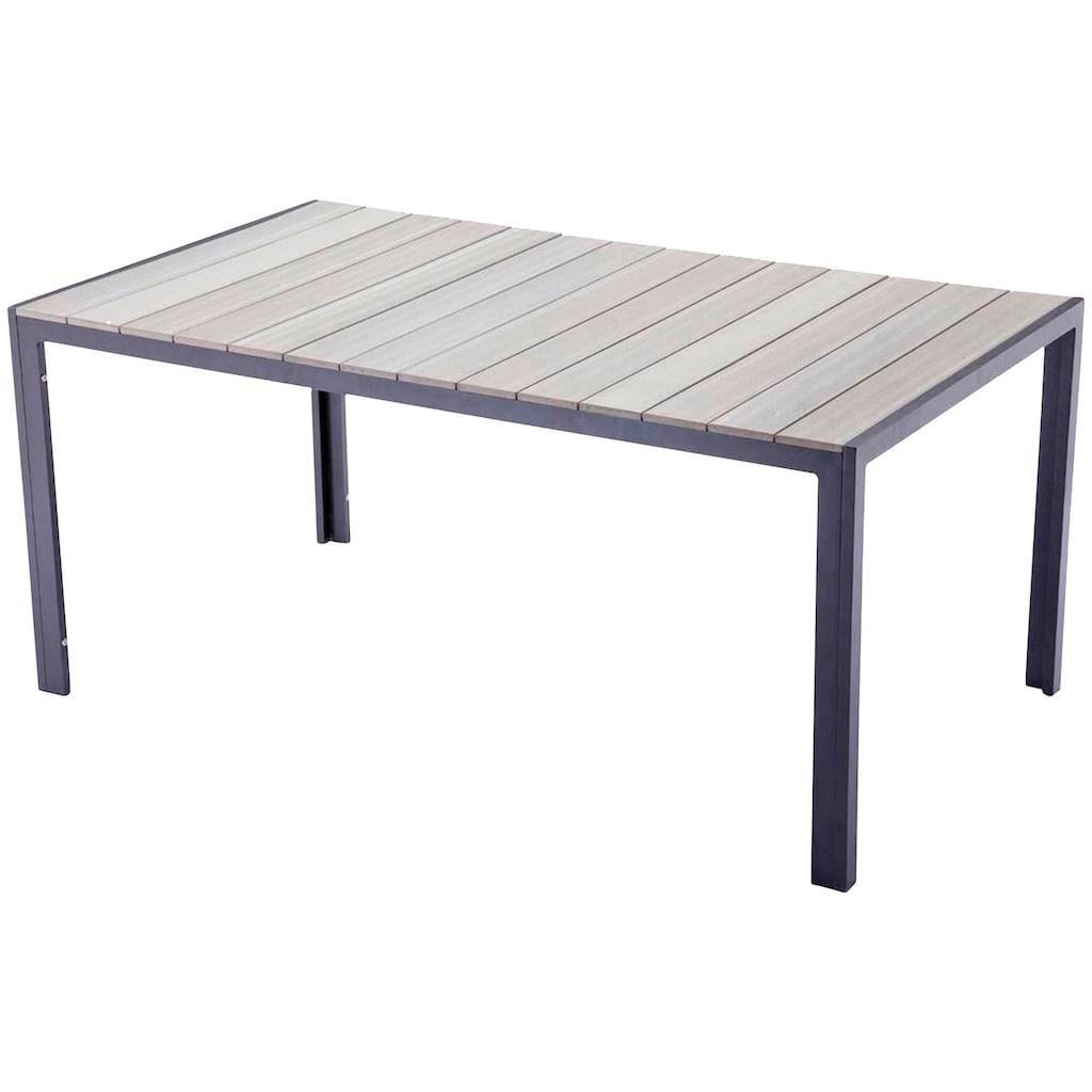 GARDEN PLEASURE Gartentisch »OLIVIA«, Non-Wood, 150x90 cm, hellgrau